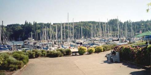 The Bainbridge Marina. Is that a mannequin??